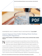 Arsenic Exposure From Public Drinking Water Declines Following EPA Regulations _ Columbia University Mailman School of Public Health