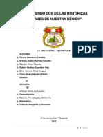 Monografía Sobre Dos de Las Históricas Ciudades de San Martín