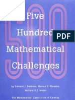 Five Hundred Mathematical Challenges.pdf