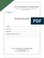Sap Record- Finance