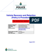 Vehicle Recovery Retention Policy Procedure 2013-06-18