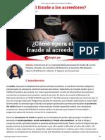 ¿Cómo Opera El Fraude a Los Acreedores_ _ Legis
