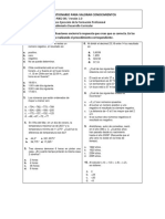 Prueba Diagnostica (conocimientos básicos matemáticas)