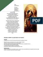 Oración y Novena a Nuestra Señora Desatanudos