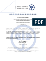 Certificado Raul Junta Central de Contadores