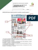 Examen Español, Artes 4ev.