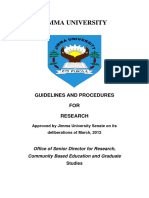 Guidelines and Procedures for Research