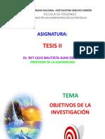 Objetivos de Investigación Mae 2017
