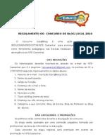 Regulamento Do Concurso de Blog2010