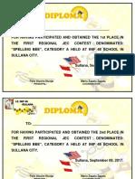 Diplomas Spelling