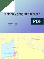Historia y Geografía Bíblicas