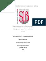 Esquema de Investigación Formativa - SISTEMAS