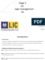 Strategic Management Of LIC