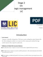 Strategic Management Of LIC