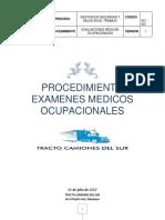 ejemplo de Procedimiento Examenes Medicos ocupacionales