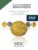 CATALOGUE A4 Numismatique MDC 04-10-2017 Numerique