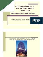 Análisis Matricial y Modal Por Cargas Laterales