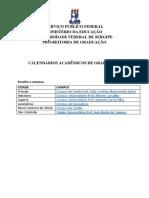 Calendários Acadêmicos - UFS