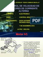 Control de Velocidadde Motores Ac