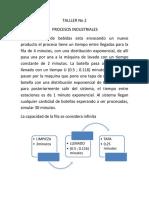 TALLLER No 2 Procesos Promodel