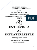 Entrevista Al Extraterrestre O DONNELL 2010 213p
