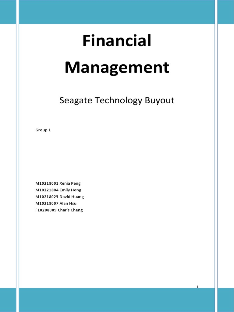 seagate technology buyout case