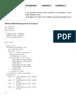 Programción Avanzada arduino