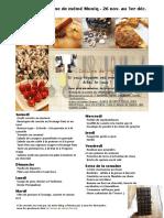 Menu de La Cuisine de Meme Moniq 26 Novembre Au 1er Decembre