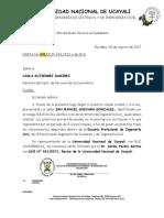 Carta de Presentacion UNU