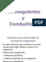 Anticoagulantes y Tromboliticos