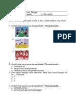 Soal Uas K-13 Sem i Kls 2 Tema 4 (1)