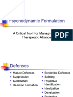 Psycho Dynamic Formulation Revised