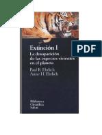 Ehrlich Paul R Y Ehrlich Anne H - Extincion I Y II - La Desaparicion de Las Especies Vivientes en El Planeta