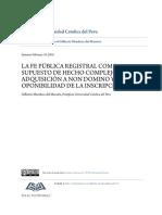 Gilberto Mendoza - La Fe Pública Registral Como Supuesto de Hecho Complejo