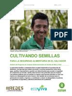Informe Cultivando Semillas Para La Seguridad Alimentaria El Salvador Mayo 2015