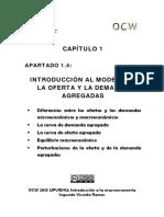 1.4 Introducion Al Modelo de La Oferta y La Demanda Agregadas (1)