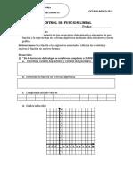 Control Funcion Lineal 8vobasico