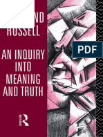 Bertrand Russell - An Inquiry Into Meaning and Truth (1995)