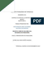Estimaciones, Estados de Cuenta y Factura - ForMATO -GAUTHIER-MEZA - 01
