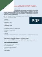 Examen de Certificación Del COLBACH (EXACER-COLBACH)