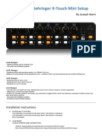 Behringer X-Touch Editor Preset MIDI2LR User Guide and Installation v2.03