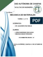 Tareas de Mecanica de Materiales