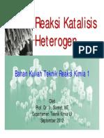 PPT Reaksi Katalisis Heterogen