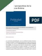 Balance y Perspectivas de La Economía en Bolivia