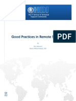 Good Practices in Remote Support Hdi