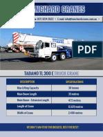 Tadano Tl 300 Truck Crane