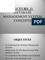 Lecture 2 Database Management System Concepts