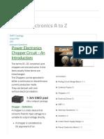 Chopper Basics, Types, Applications - Power Electronics a to Z