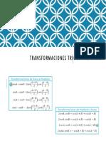 TRANSFORMACIONES TRIGONOMETRÌCAS