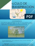Calculo de Evapotranspiracion